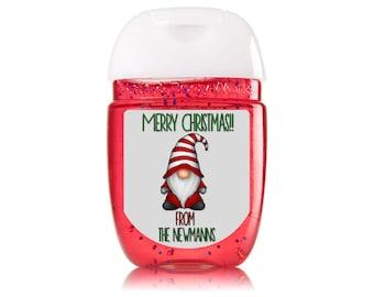 Pocketbac Mini Hand Sanitizer Labels, Gnome Sanitizer Labels, Stocking Stuffers, Mini Hand Sanitizers Hand Sanitizer Gift, LABELS ONLY #1772