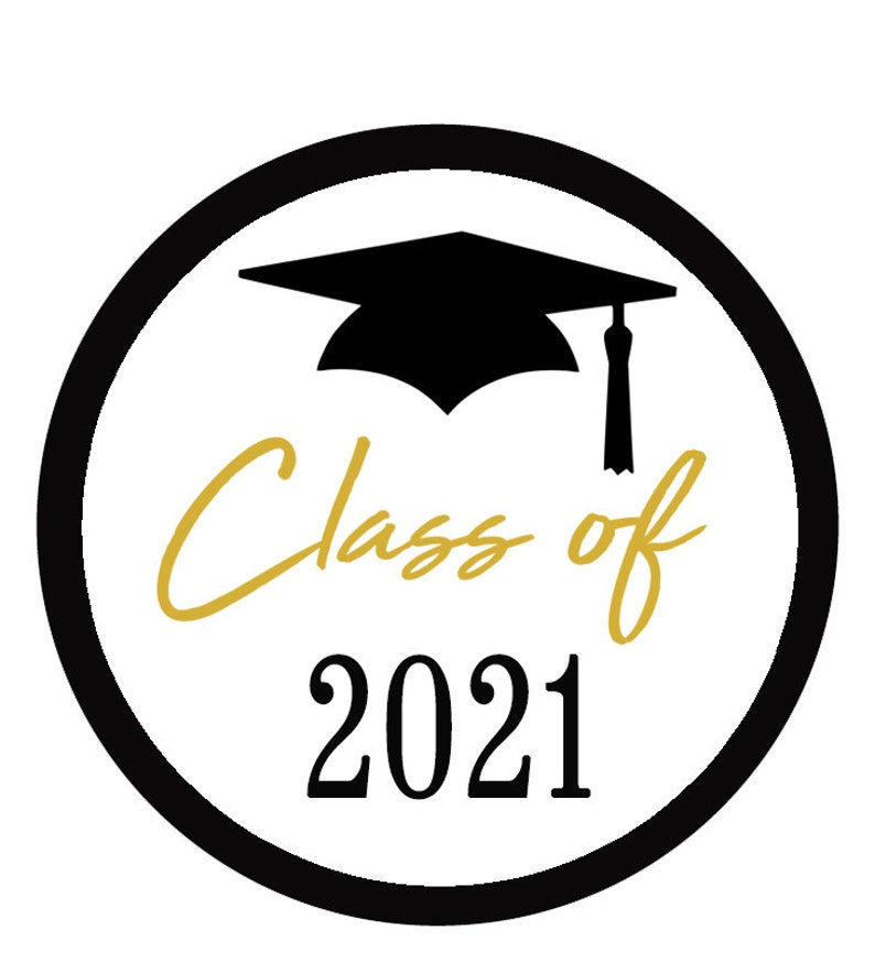 Graduation Stickers Class of 2021 Graduation Party Favor image 0