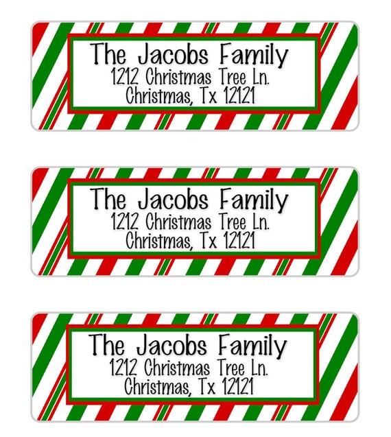 return address labels christmas envelope labels personalized etsy