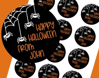 Halloween Stickers, Trick or Treat Stickers, Haunted House Stickers, Halloween Treat Stickers, Halloween Party Favors, SHEET OF 12 #1801