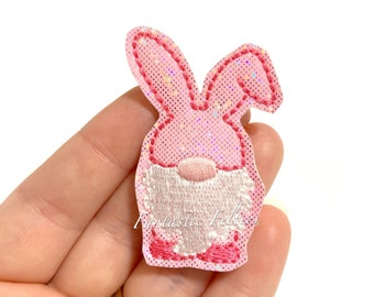 Set of 3 Pink Bunny Felties Bunny Feltie Easter feltie