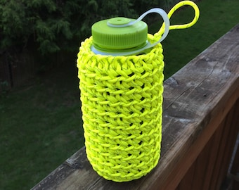 Nalgene, 32oz Water Bottle Cozy, 550 Cord, Paracord, Water Bottle Holder  **Request a Color.