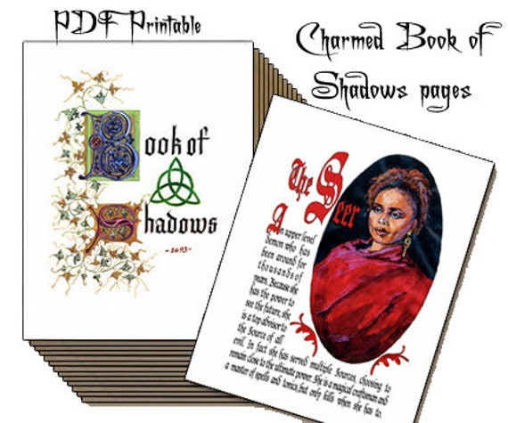 Free Charmed Book Of Shadows Replica Pages – Desenhos Para Colorir