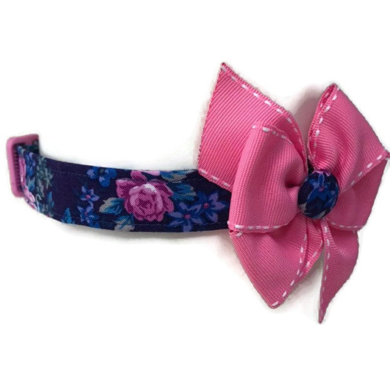 Floral Dog collar size Extra Large Girl Dog Collar pink and image 0
