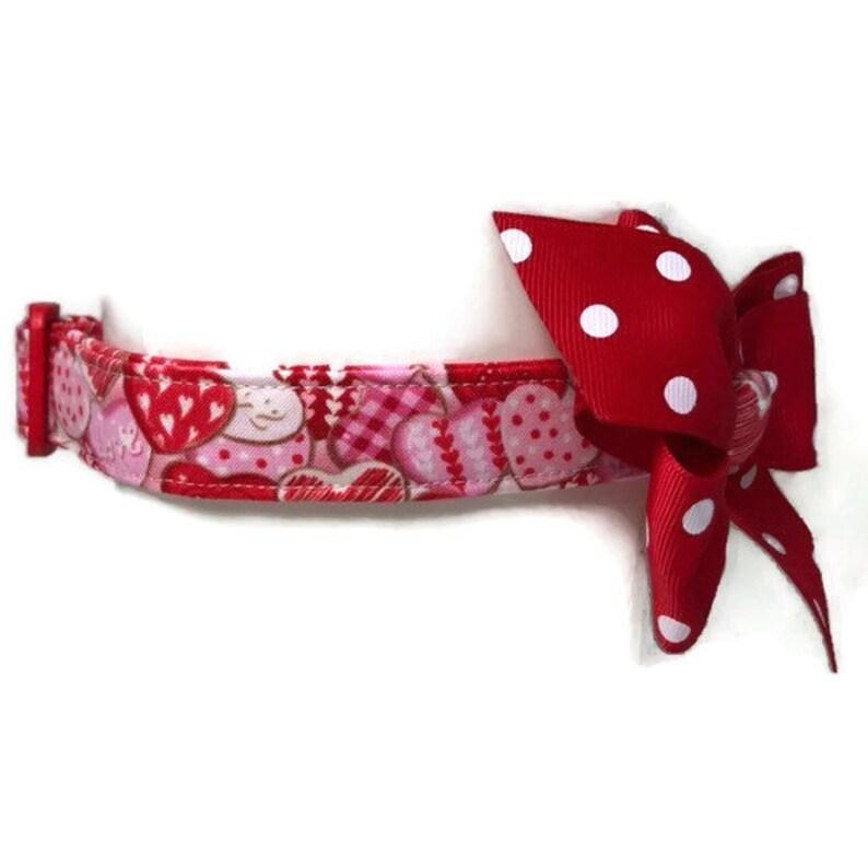 Valentine Dog Collar size Medium Girl Dog Collar Sweetheart image 0