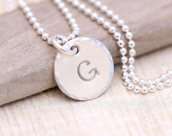 Monogrammed Necklace, Mothers Necklace, Personalized, Initial Necklace, Personalized Silver Necklace, Personalize Necklace, Bridesmaid Gift