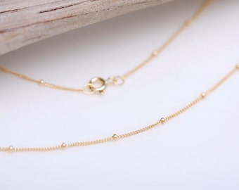 Gold Choker Necklace, Satellite Necklace, Dainty Short Necklace, Layering Necklace, Gold Jewelry, Simple Necklace, Hammered Gold, minimalist