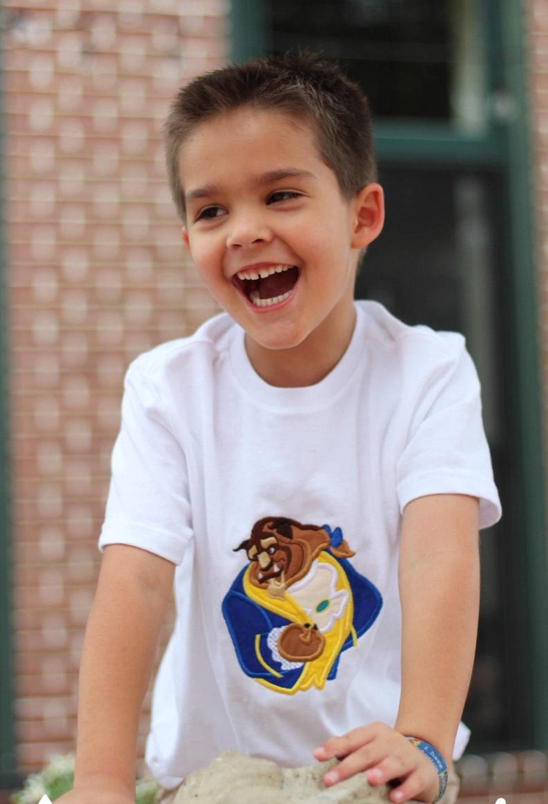 Boys Disney Embroidered Beast Tee Shirt T  2T 3T 4T 5T