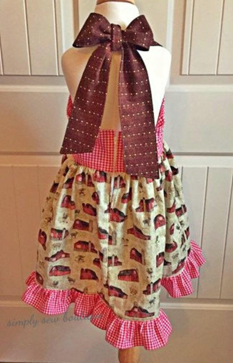 Toddler Girls Barn yard Fun ruffle twirl dress 2T 3T 4T 5 ...