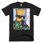 New Designer Bart Simpson Limited Edition San Francisco Street Art T-shirt  original art work