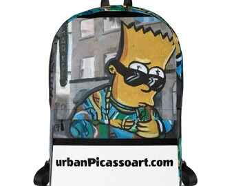 0b4b164d44e Bart Simpson Backpack by San Francisco Street Artist Urban Picasso