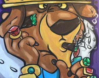420 Art Cannabis Painting by Zamiro