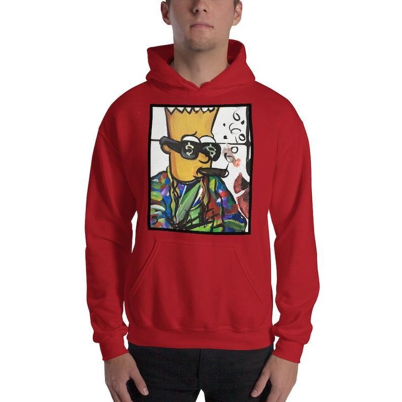Bart Simpson Skater  Hoodie image 0