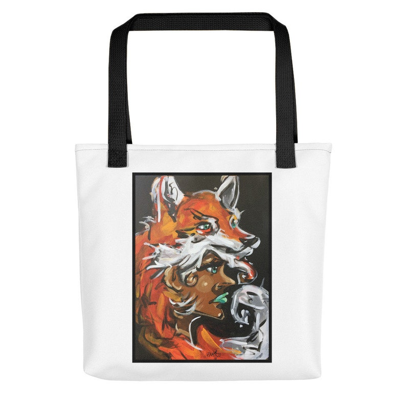 Fox Headed Tote bag by San Francisco Street Artist Urban image 0