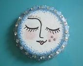 Blue Dream Moon wall art | full moon wall art | moon wall hanging | celestial wall sculpture | moon sculpture | blue moon