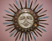 Sun wall sculpture, the Morning Star | sun assemblage | solstice wall art | inspirational art