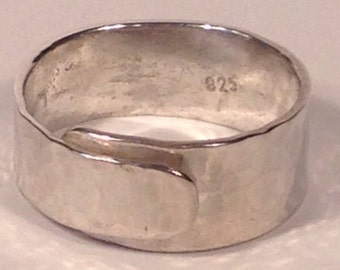Sterling Silver Artisan Forged Adjustable Ring