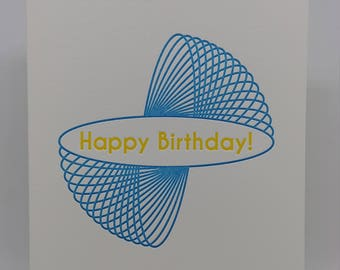 Happy Birthday Slinky Letterpress Card