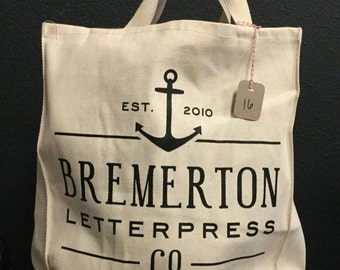 Bremerton Letterpress Co Tote (tan)