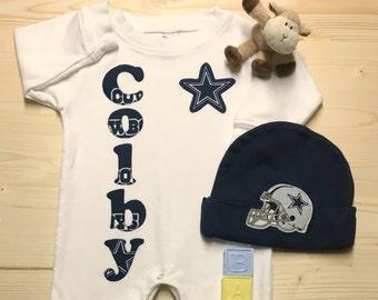 Cowboys baby etsy dallas cowboys personalized baby negle Choice Image