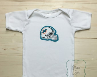 Miami Dolphins Bodysuit with Helmet Made from Miami Dolphins Fabric d2f328b49