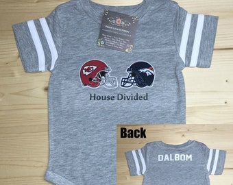 1dc054c7 House Divided Baby ~ ANY 2 NFL Teams, Baby Football Outfit, Baby Shower  Gift, New Baby Gift, Football Baby Outfit,Going Home Outfit,NFL Baby