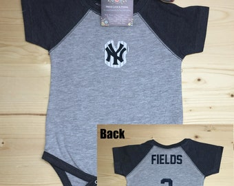 3cad72a80 Yankees Bodysuit,Yankees Baby Shirt,Braves Jersey,Baby Baseball Shirt,Personalized  Baby Jersey,NY Yankees Baby,Baby Shower Gift