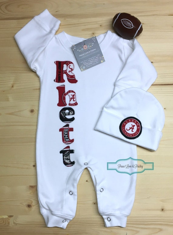 f6aa0d99e University of Alabama Baby Personalized Baby Romper and Hat