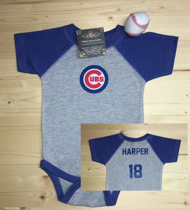 size 40 7a4ad 8091a Cubs Bodysuit, Cubs Baby Shirt, Cubs Jersey, Baby Baseball Shirt,  Personalized Baby Jersey, Chicago Cubs Baby,Baby Shower Gift,Cubs Baseball