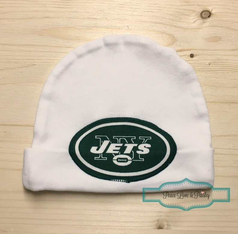 ebe8596697e New York Jets Baby Hat Made from New York Jets Fabric Baby