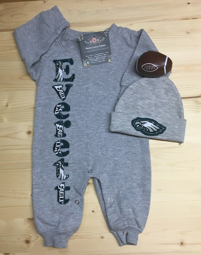 28b15a9ed Philadelphia Eagles Personalized Baby Romper and Hat