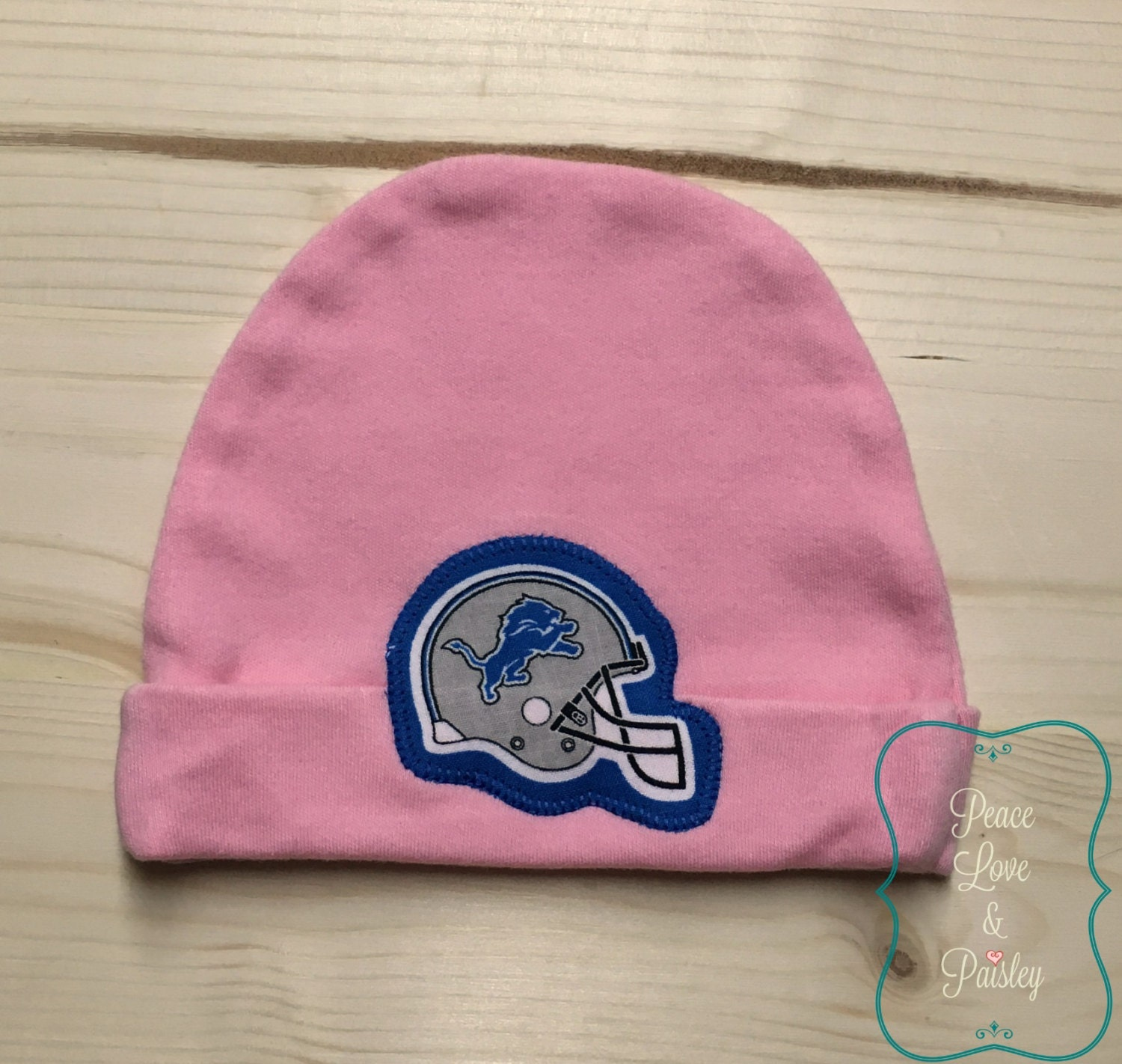 76de26b5 Detroit Lions Baby Hat Made from Detroit Lions Fabric, Lions Baby, Baby Boy  Lions, Baby Shower Gift, New Baby Gift, New Dad Gift