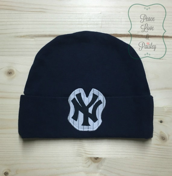 Yankees Baby Hat Made from New York Yankees Fabric NY Yankees  f97a63645b0