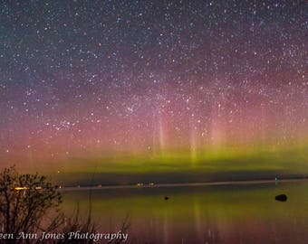 Northern Lights Over Old Mission Peninsula