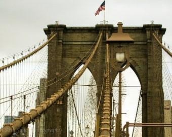 Freedom Tower Seen Through Brooklyn Bridge
