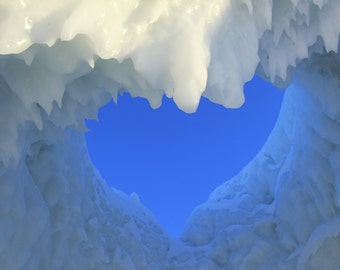 2014 Lake MI Ice Caves Heart Cave Photo Digital Download