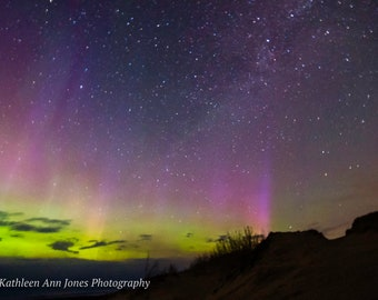 Aurora Over the Dunes