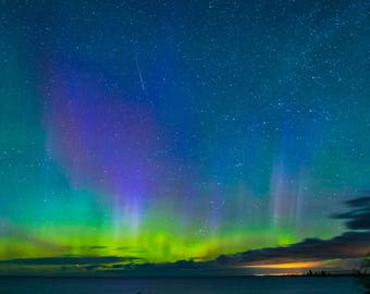 Aurora Borealis Over Old Mission Peninsula