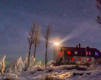 Point Betsie Lighthouse with Aurora