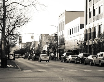 Black and White Downtown Traverse City Photo