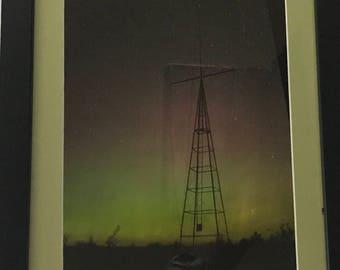 Framed Aurora at Old Lifesaving Station Photo