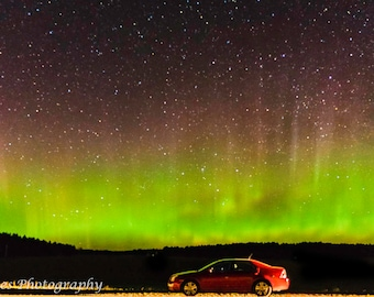 Aurora Lights up My Car