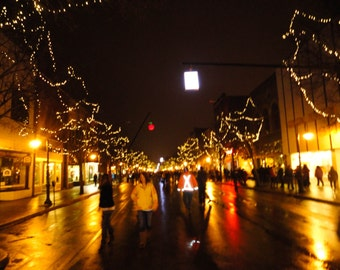 Downtown Traverse City Michigan New Years Eve Cherry Drop Digital Photo File