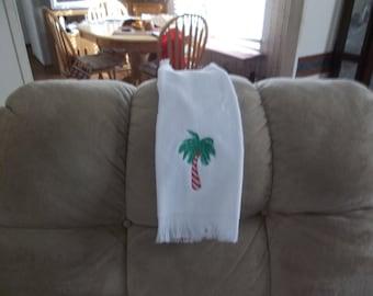 SC PALMETTO CANDYCANE  tree towel