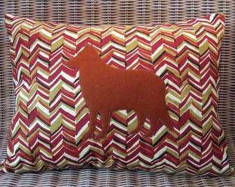 """Appliquéd German Shepherd Pillow 