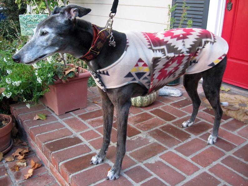 Extra Large Dog Coat /& White Snowflake Print Fleece with Baby Blue Fleece Lining Dog Jacket Navy Blue Greyhound Coat