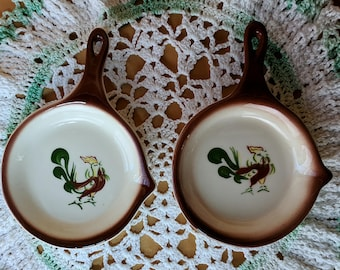 ONE Rooster Frying Pan Tea Bag Holder Spoon Rest *eb