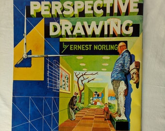 Vintage PERSPECTIVE DRAWING by Ernest Norling Published Walter Foster Art Instruction *eb