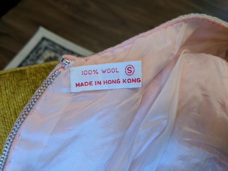 Vintage Pink Beaded Flapper Wool /& Lined Sequins Sleeveless Top S Hong Kong *