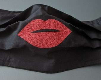 Large Red Lips /& Lip Stick set Iron On Patches Embroidery Sew Iron Patch cute
